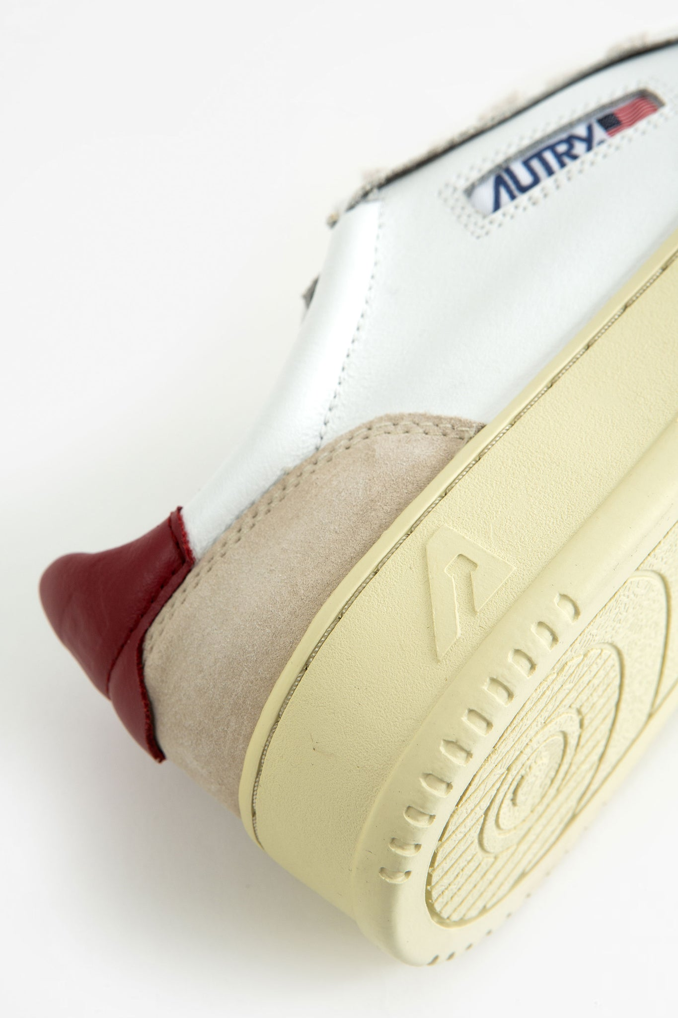 Low sneakers leat/suede white/brd
