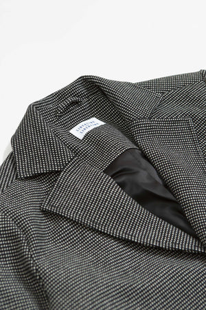 Pace coat black and white check