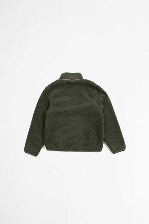 High pile fleece olive