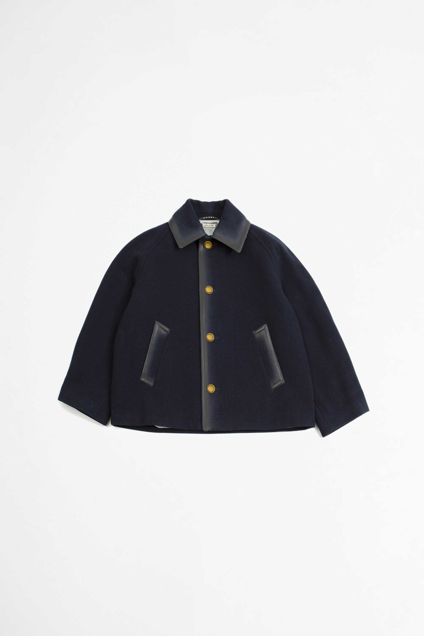 Short single breasted jacket navy