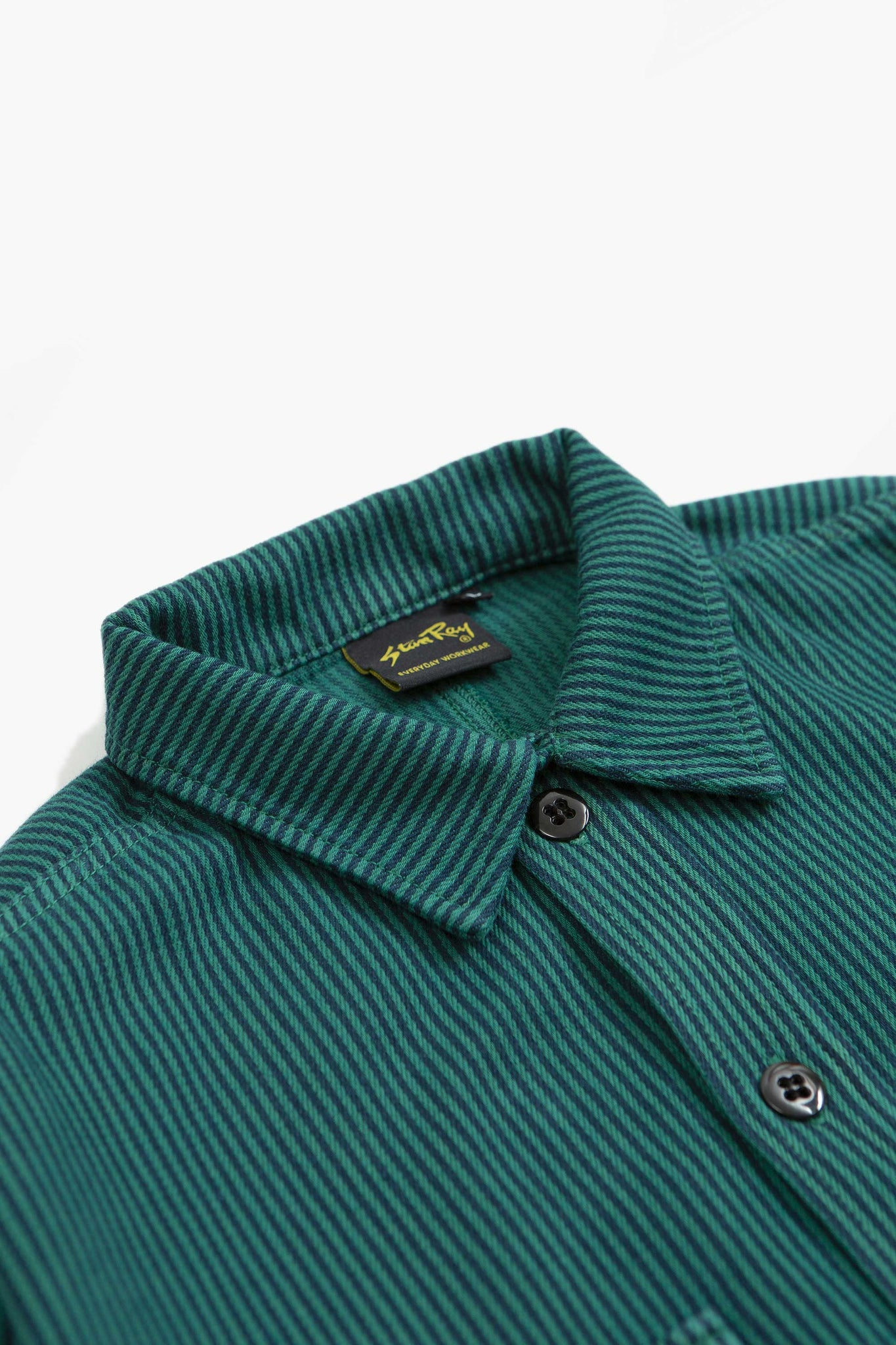 Prison shirt indian green stripe