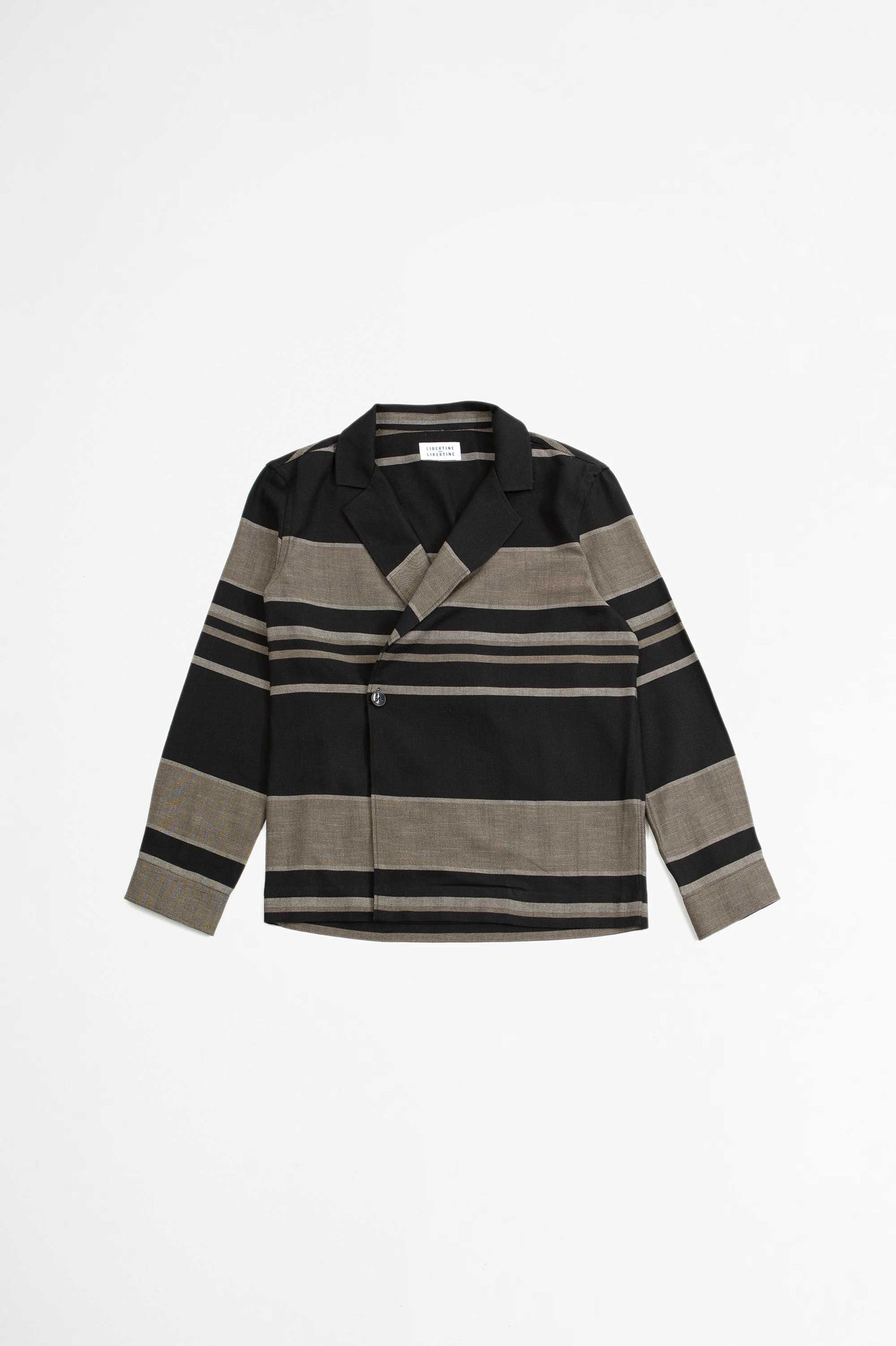 Wave shirt black stripe