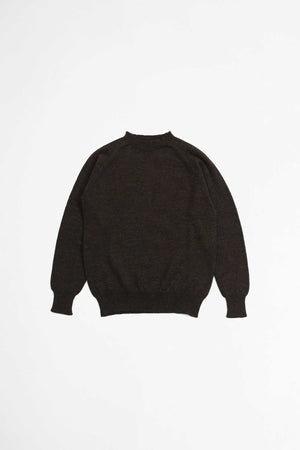Crew neck dry merino sweater ebony