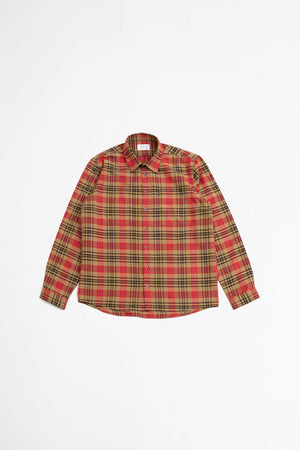 Novel shirt chinese red check