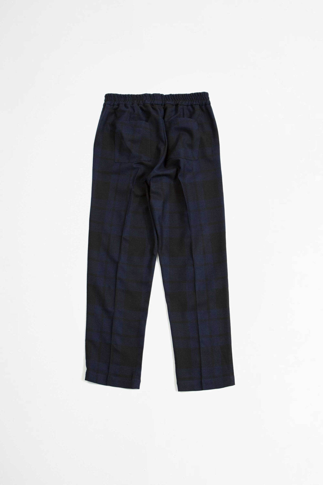 Ferus trousers dark navy check