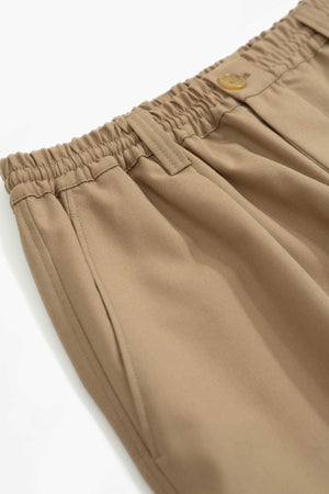 Elasticated waist band trousers beige