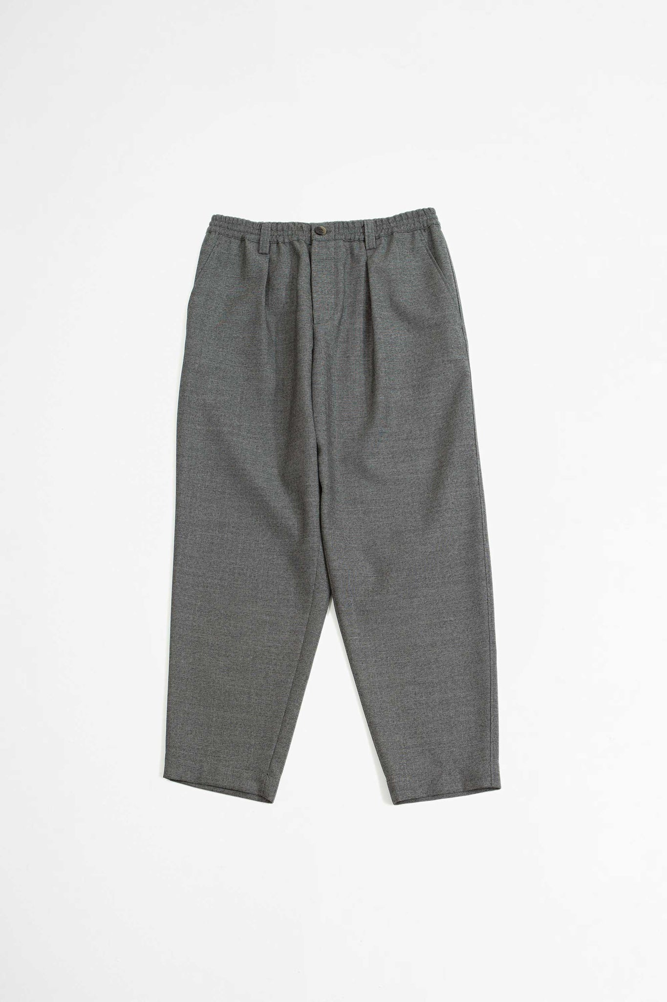 Elasticated waist band trousers grey melange