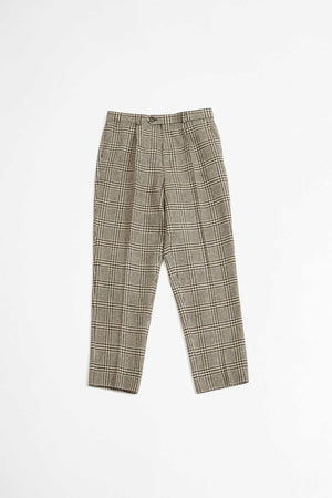 Nathan crop trousers brown/off white