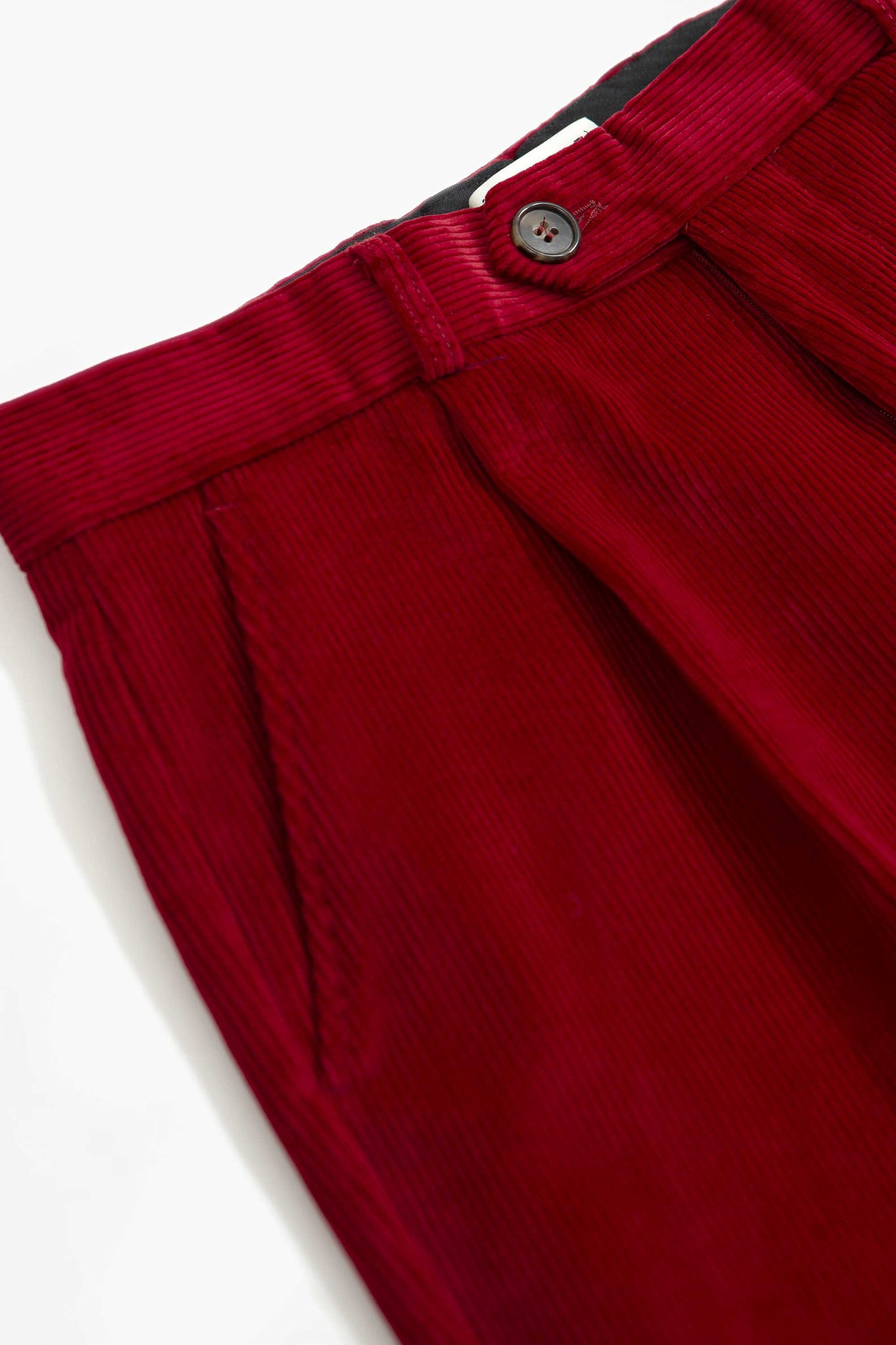 Nathan crop trousers red
