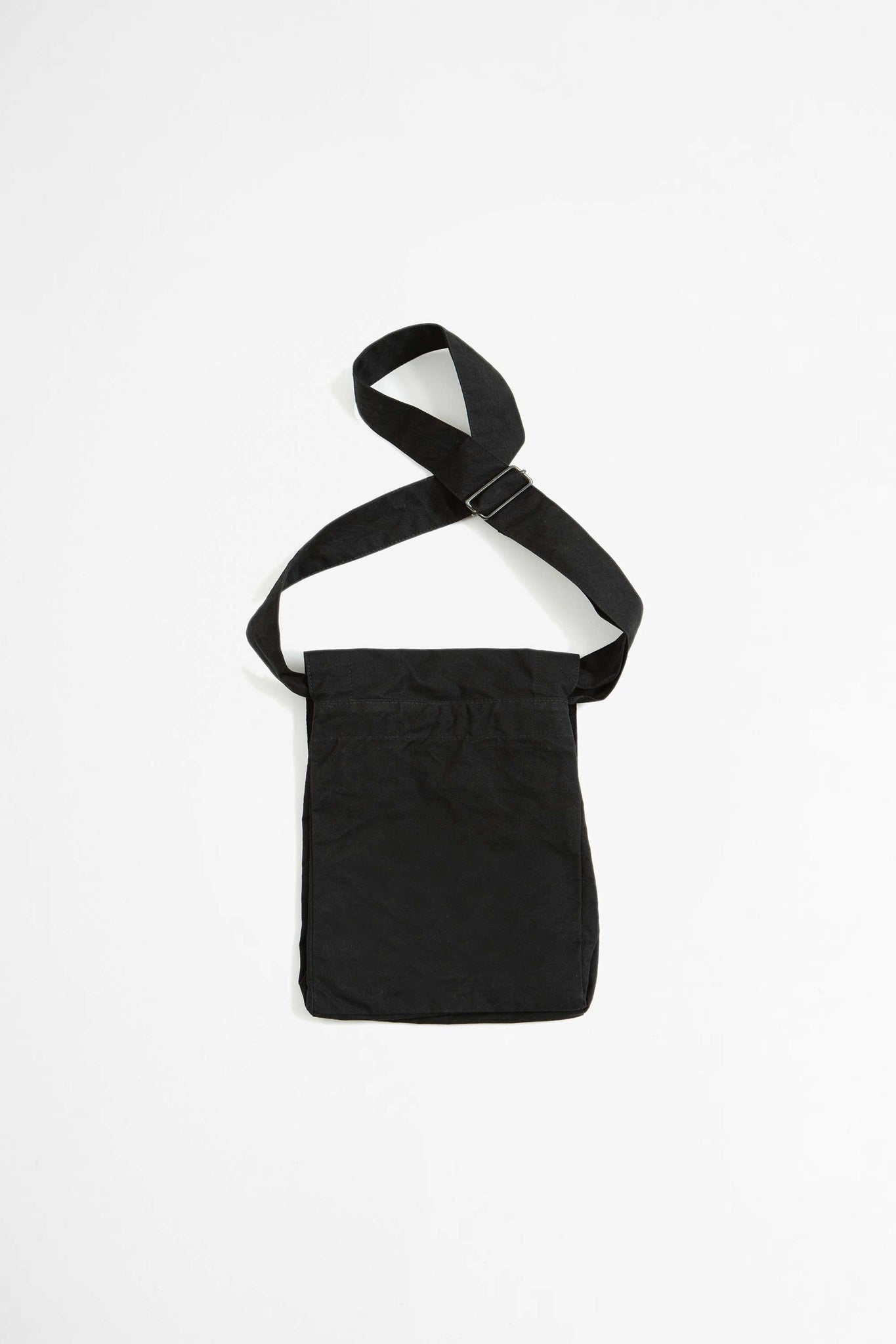 Pouch bag washed cotton black