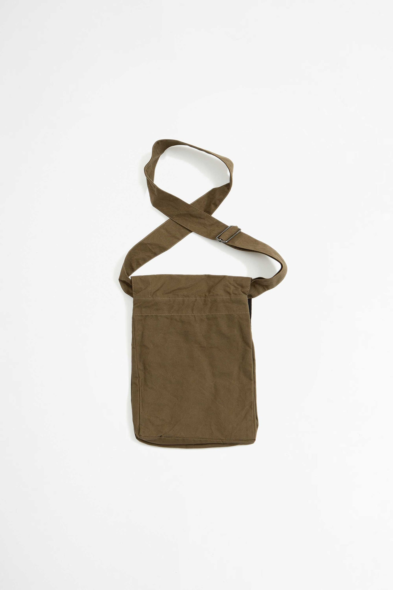 Pouch bag washed cotton khaki