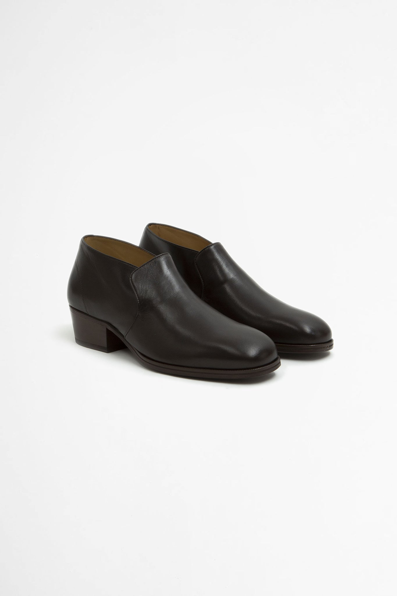 Low boots midnight brown