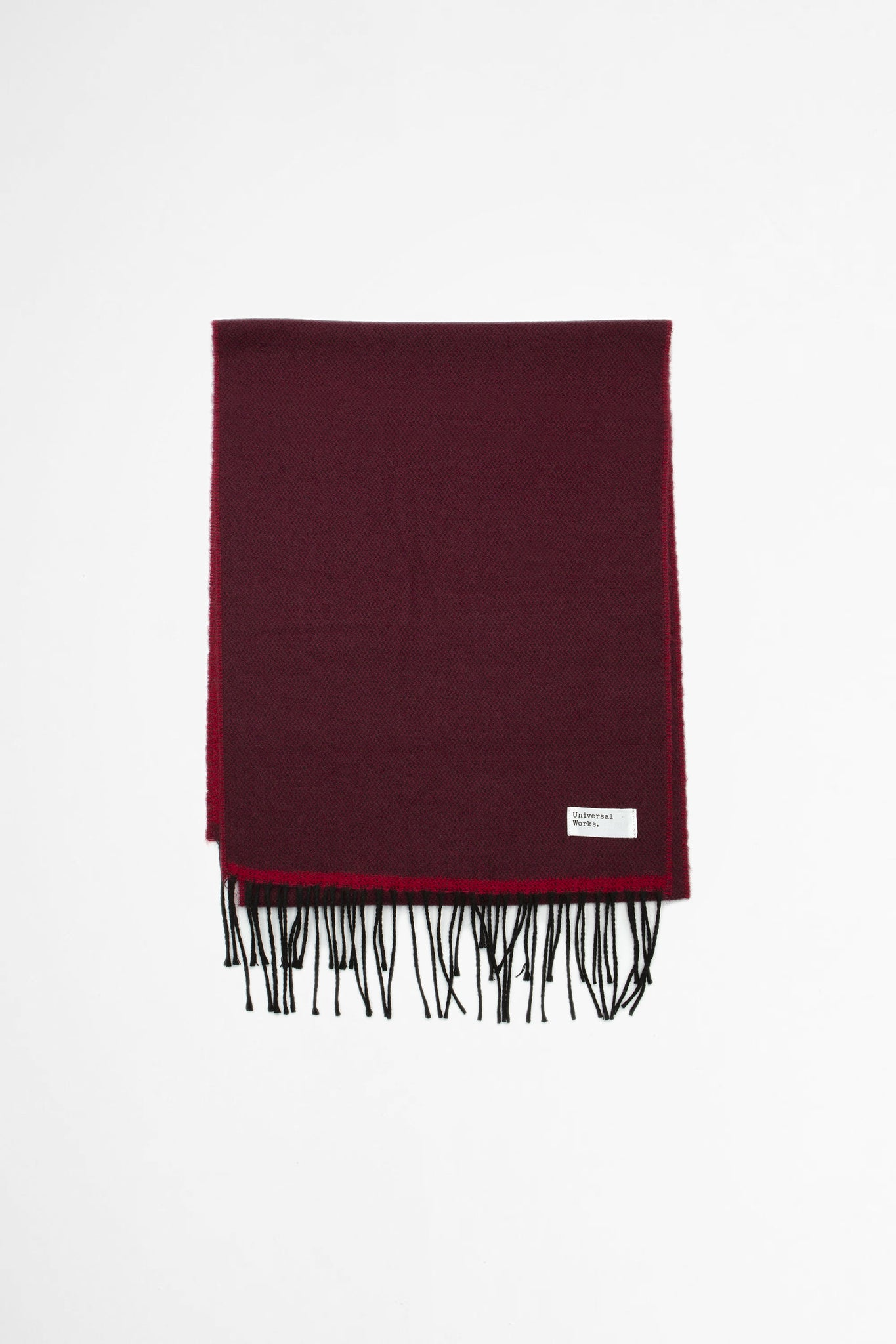 Double sided scarf burgundy/red