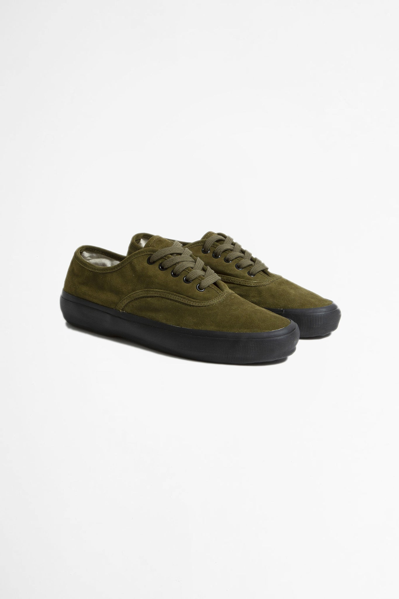 US navy military trainer olive suede with black sole