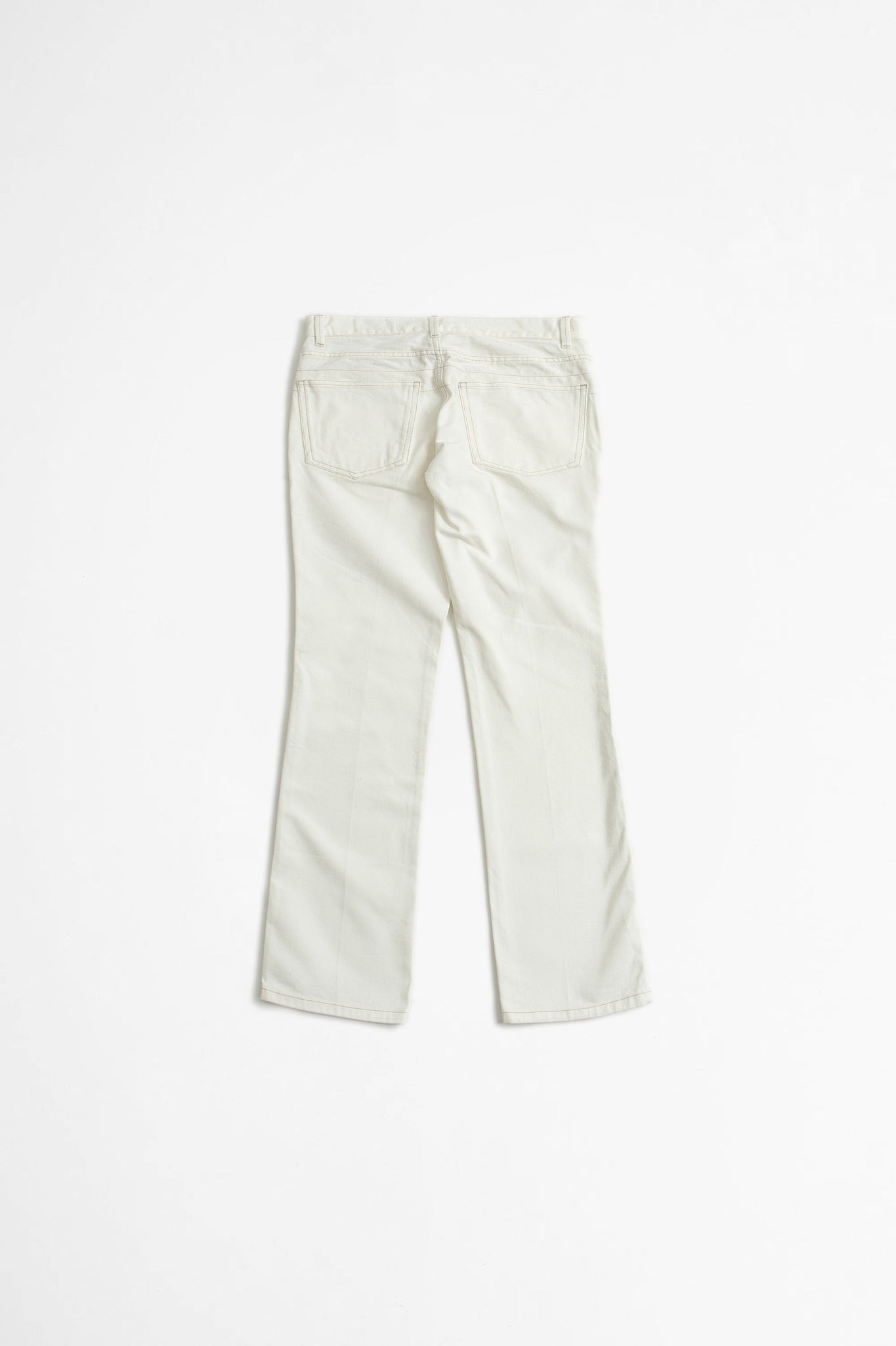 Bootcut pants off white