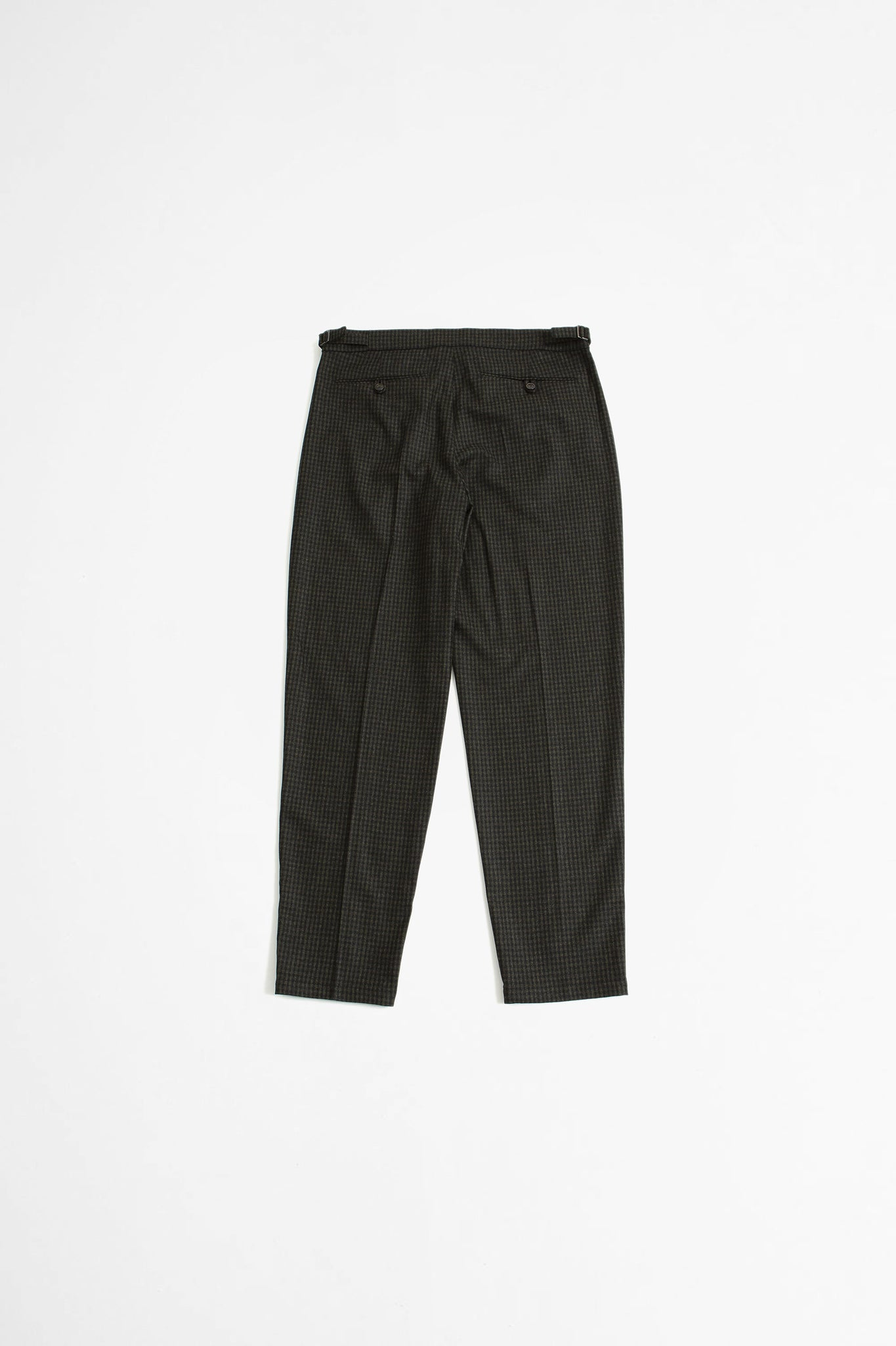 Pencil pants dark forest check