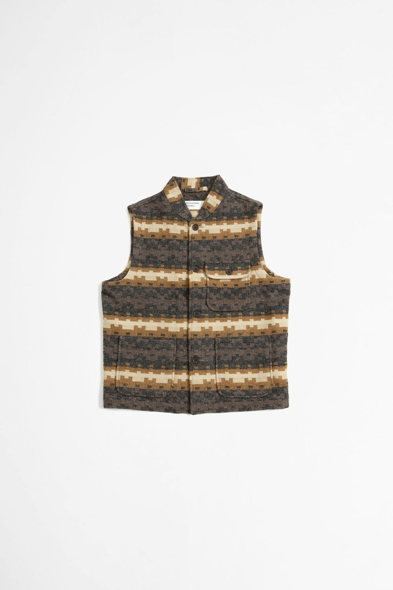 Battleman waistcoat urban mex wool chocolate/ black