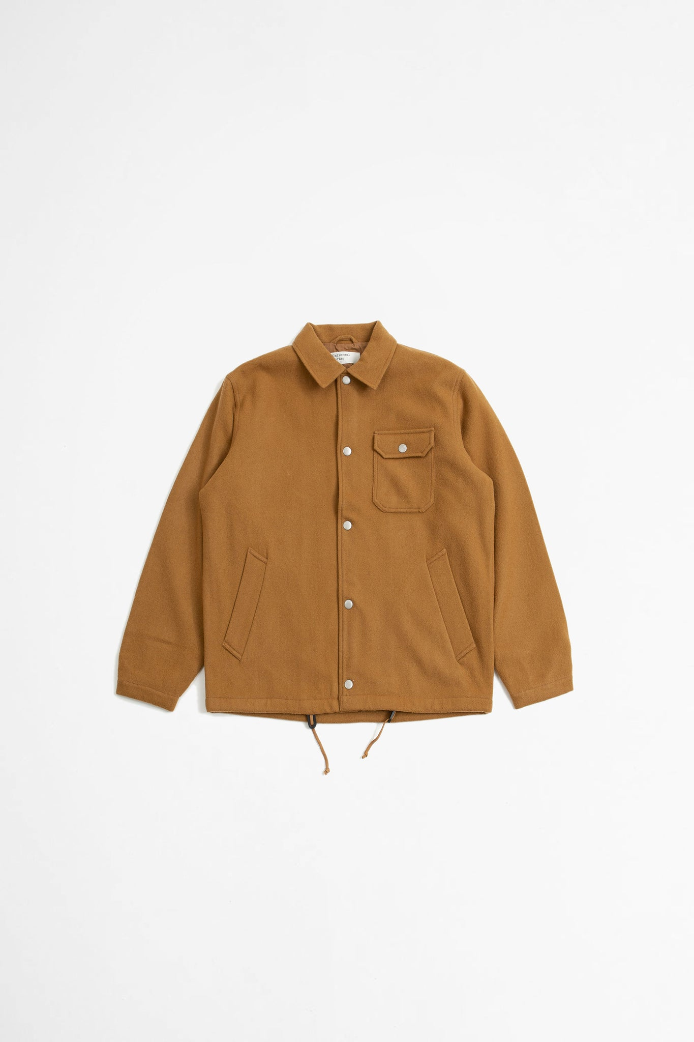 Coach jacket in caramel mowbray