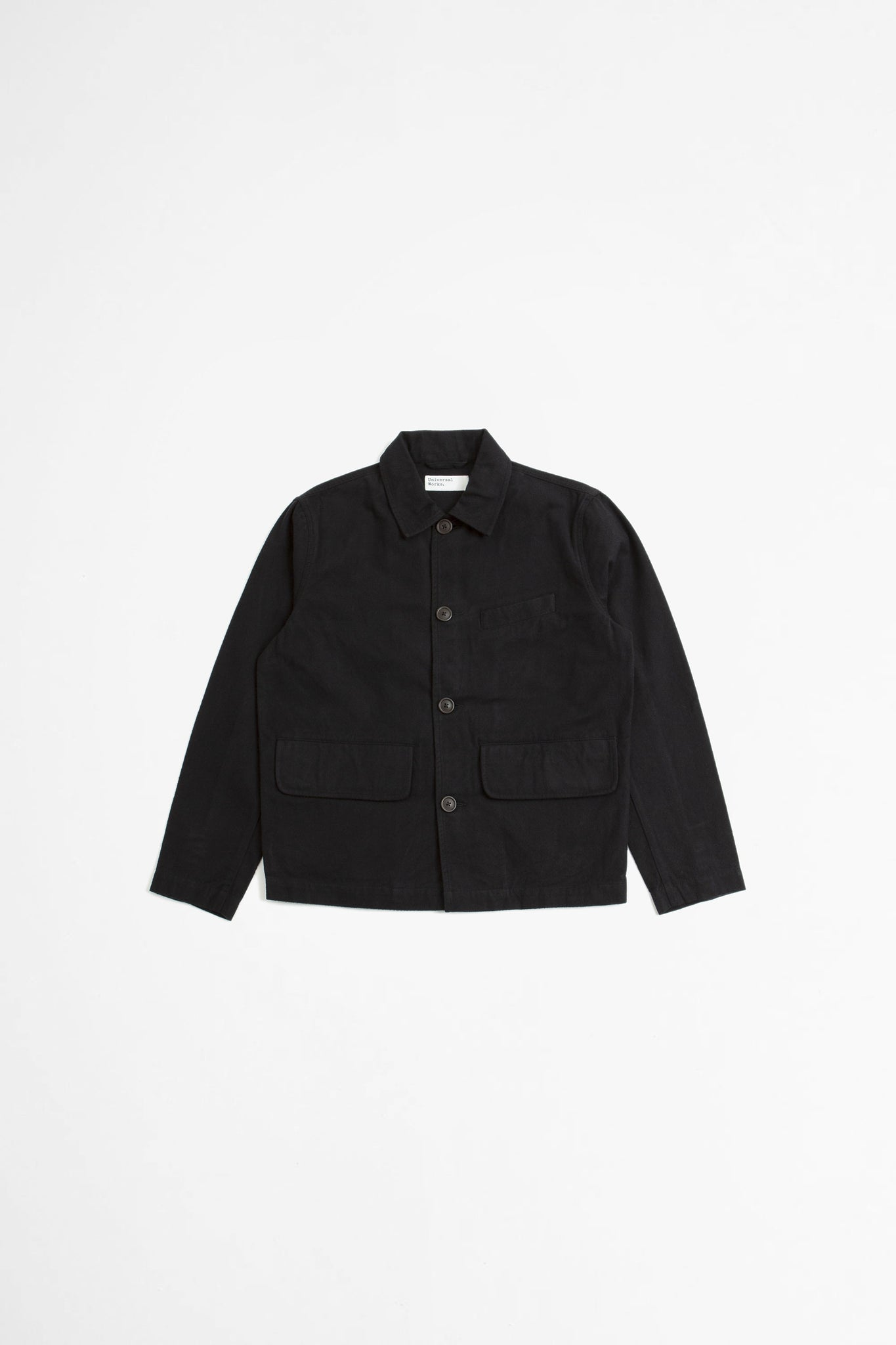 Warmus II jacket in black nebraska cotton