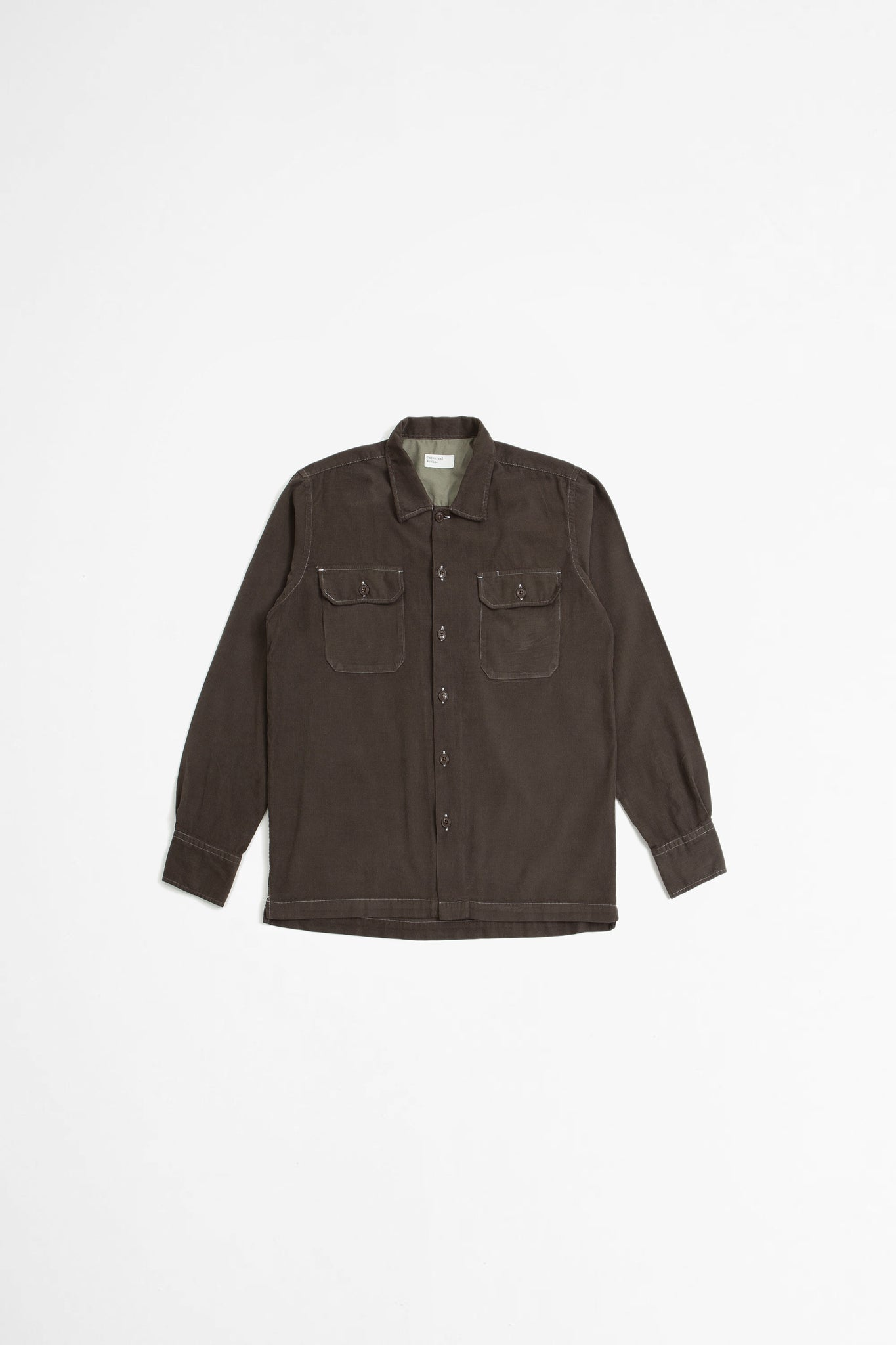 Utility shirt super fine cord chocolate