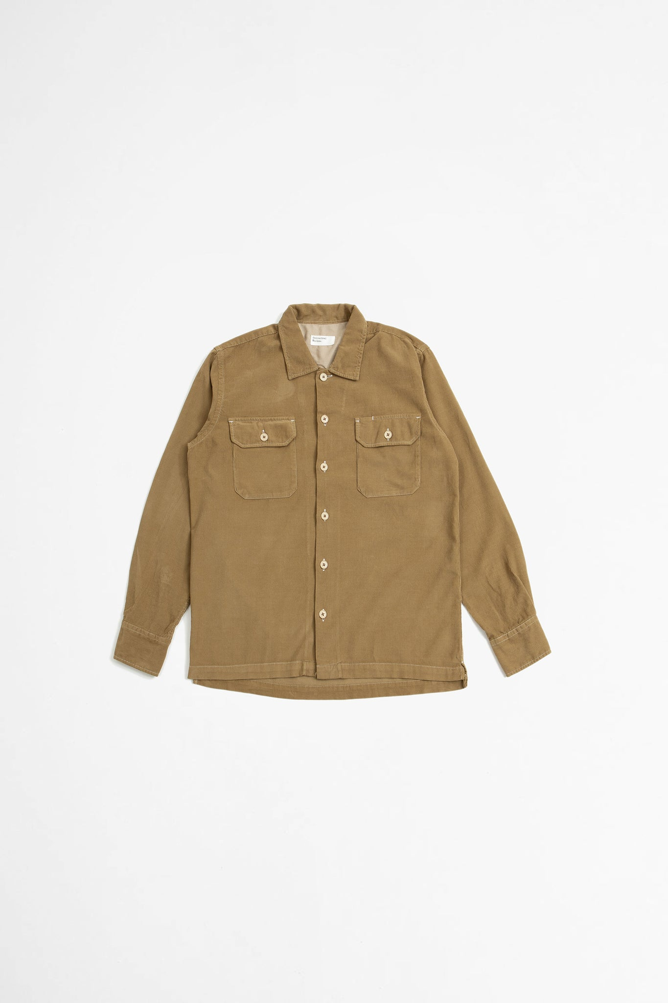 Utility shirt super fine cord taupe