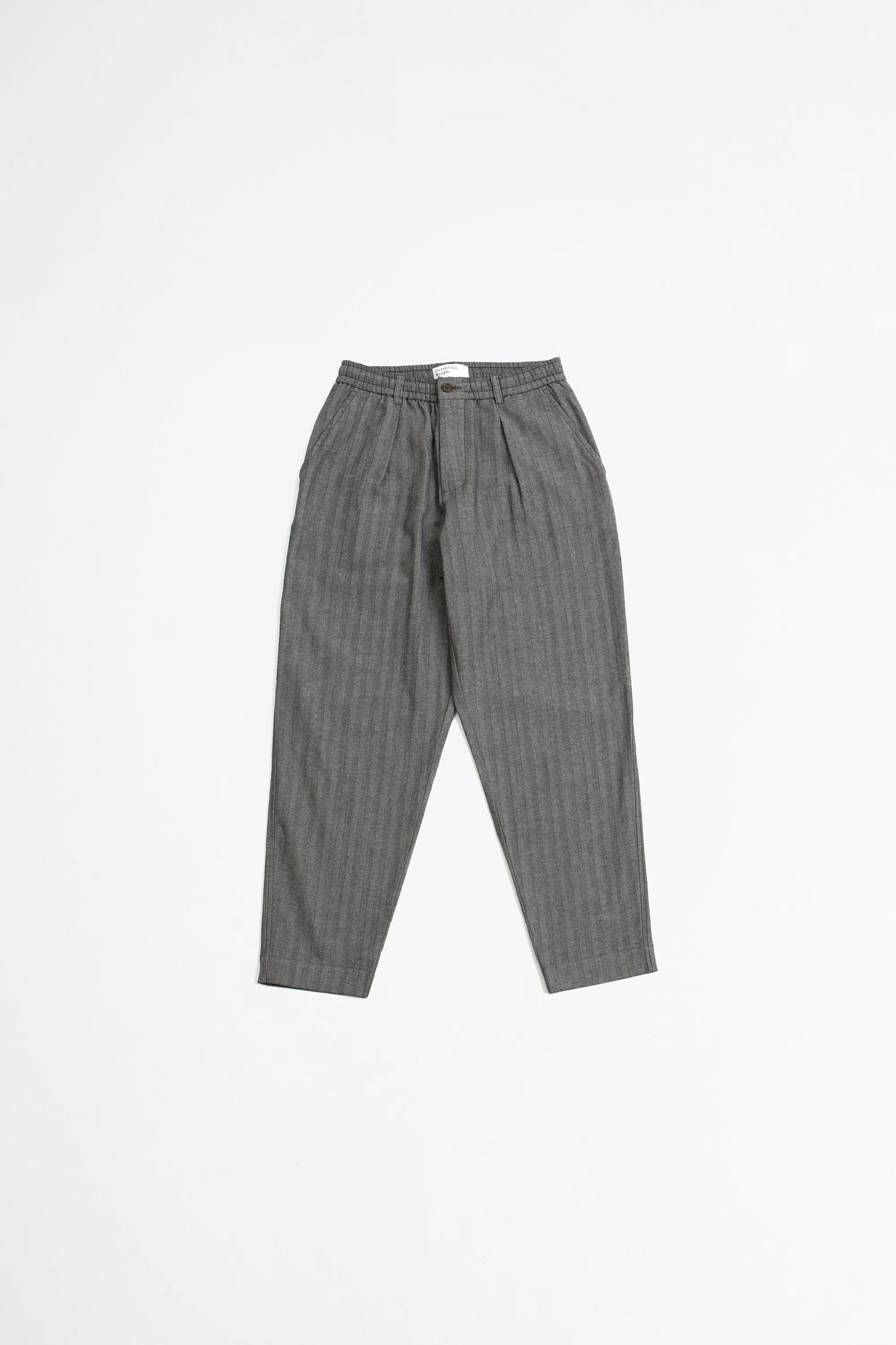 Pleated track pant leo cotton grey