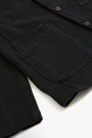 Bakers jacket trio twill black
