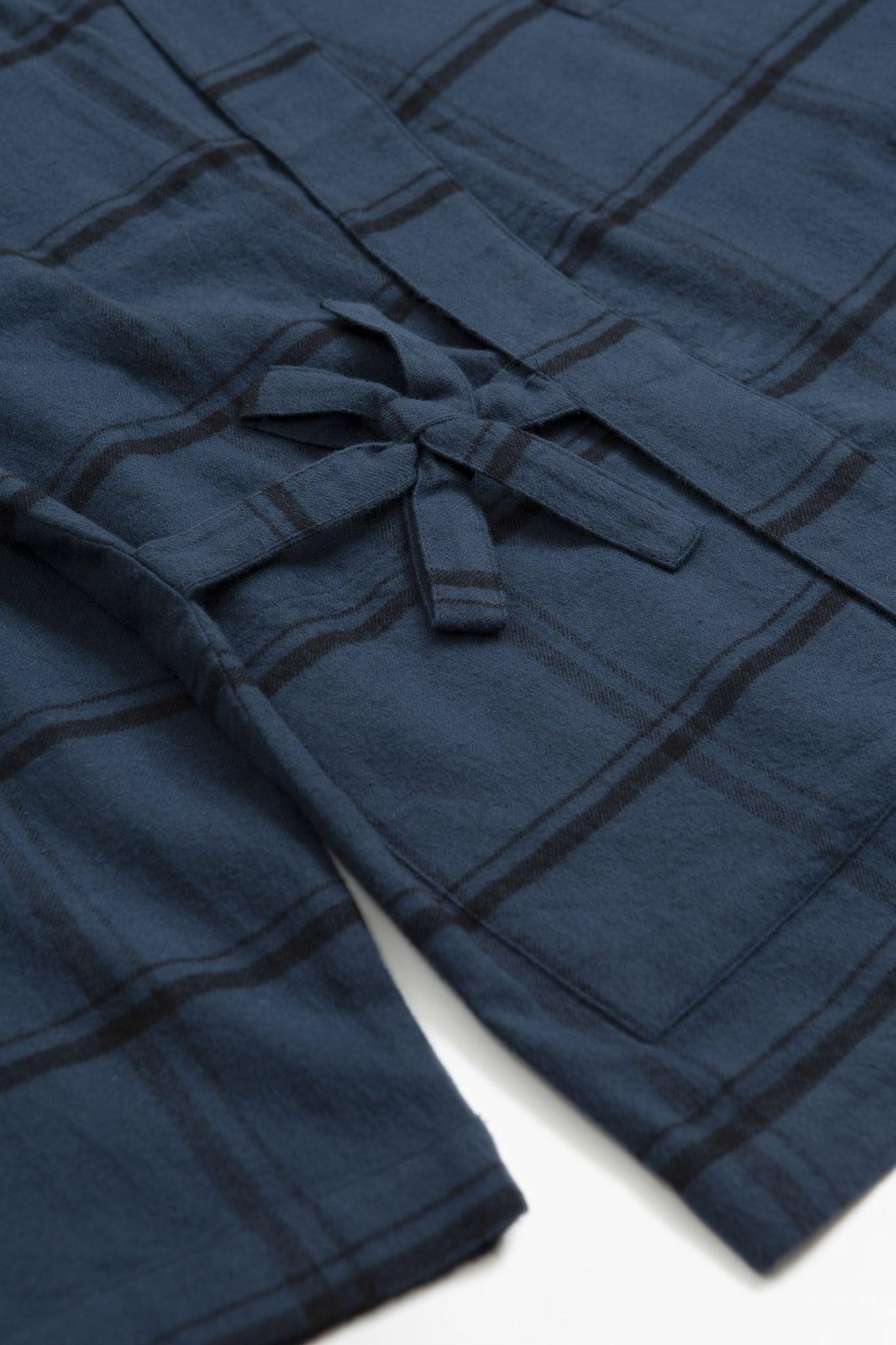 Kyoto work jacket brushed check blue