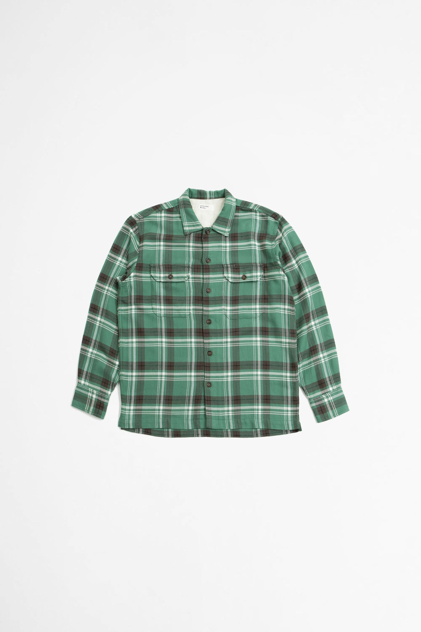 Utility shirt heavy check green