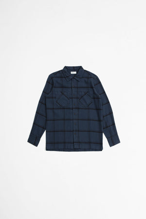 Garage shirt II brushed check blue