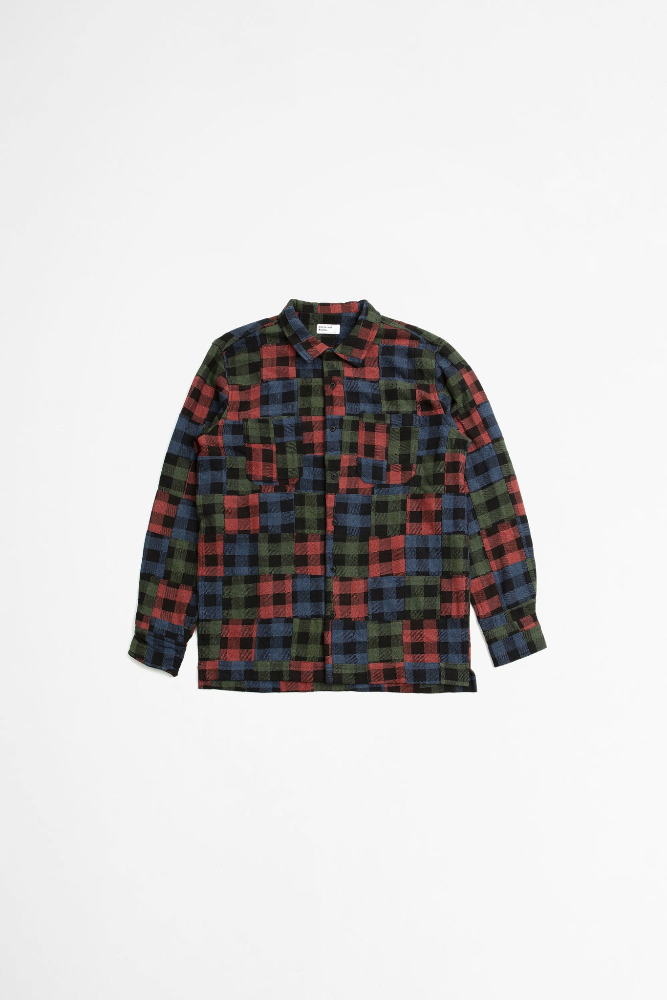 Garage shirt II brushed patchwork multi