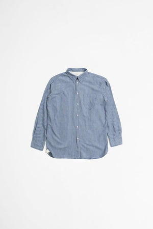 Brooke shirt recycled fine stripe blue