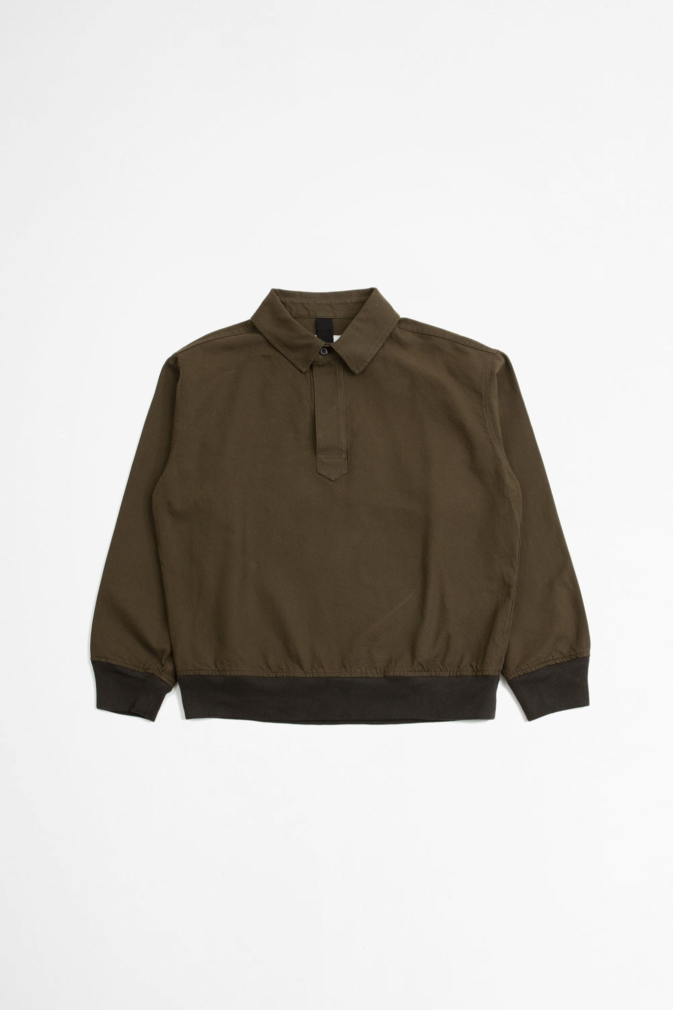 Pull on polo workwear cotton twill bark