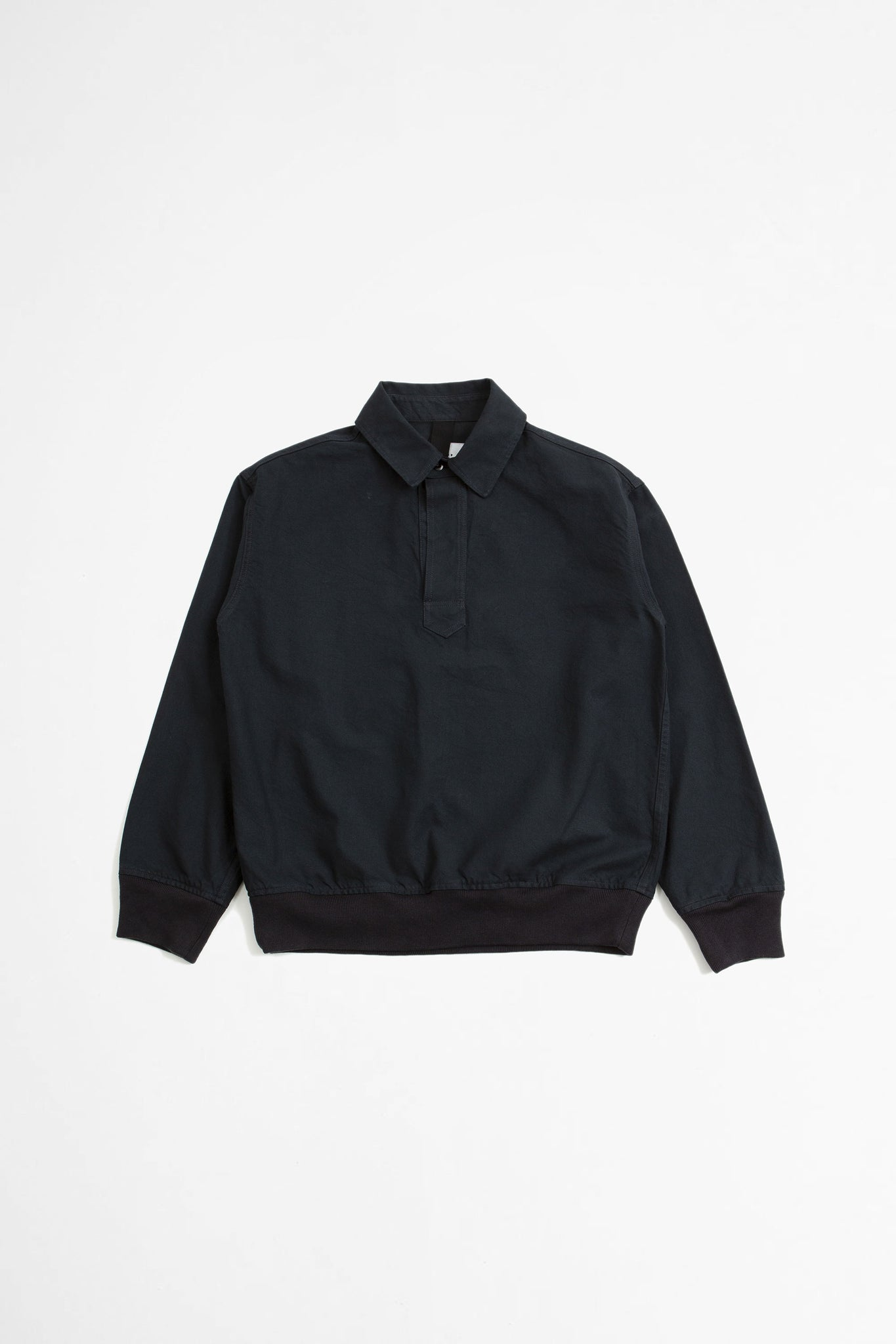 Pull on polo workwear cotton twill ink