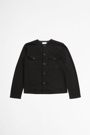 Felted overshirt black