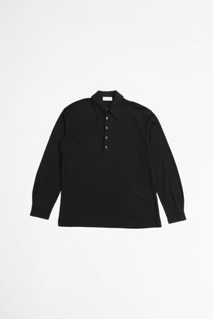 Crepe polo black