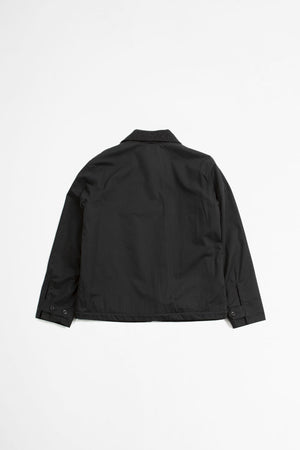 Deck jacket dry plainweave cotton black