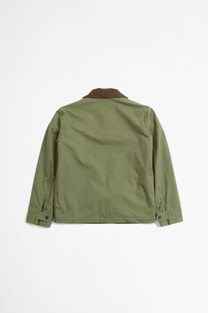 Deck jacket dry plainweave cotton sage