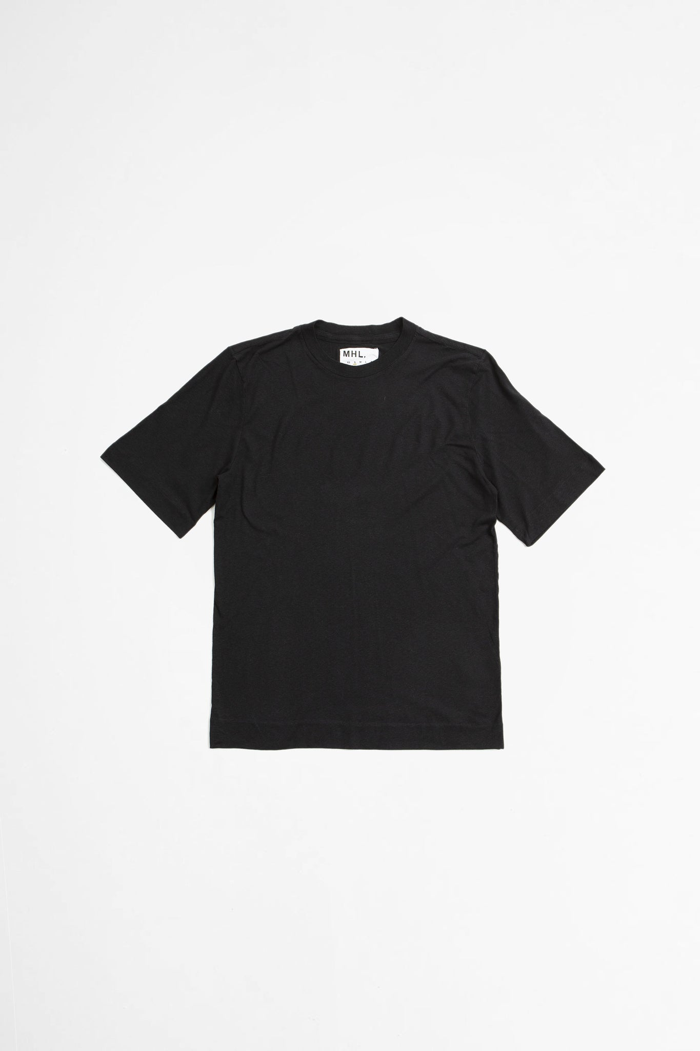 Basic t-shirt cotton linen jersey black