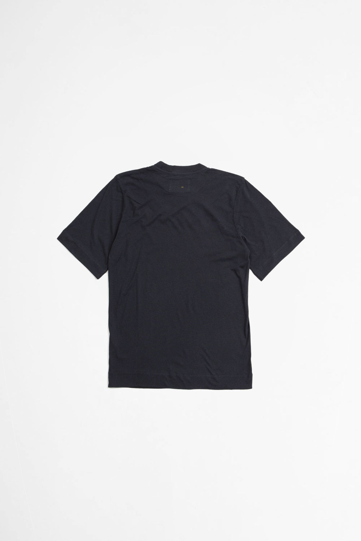Basic t-shirt cotton linen jersey navy