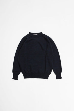 Crew neck dry merino sweater dark navy