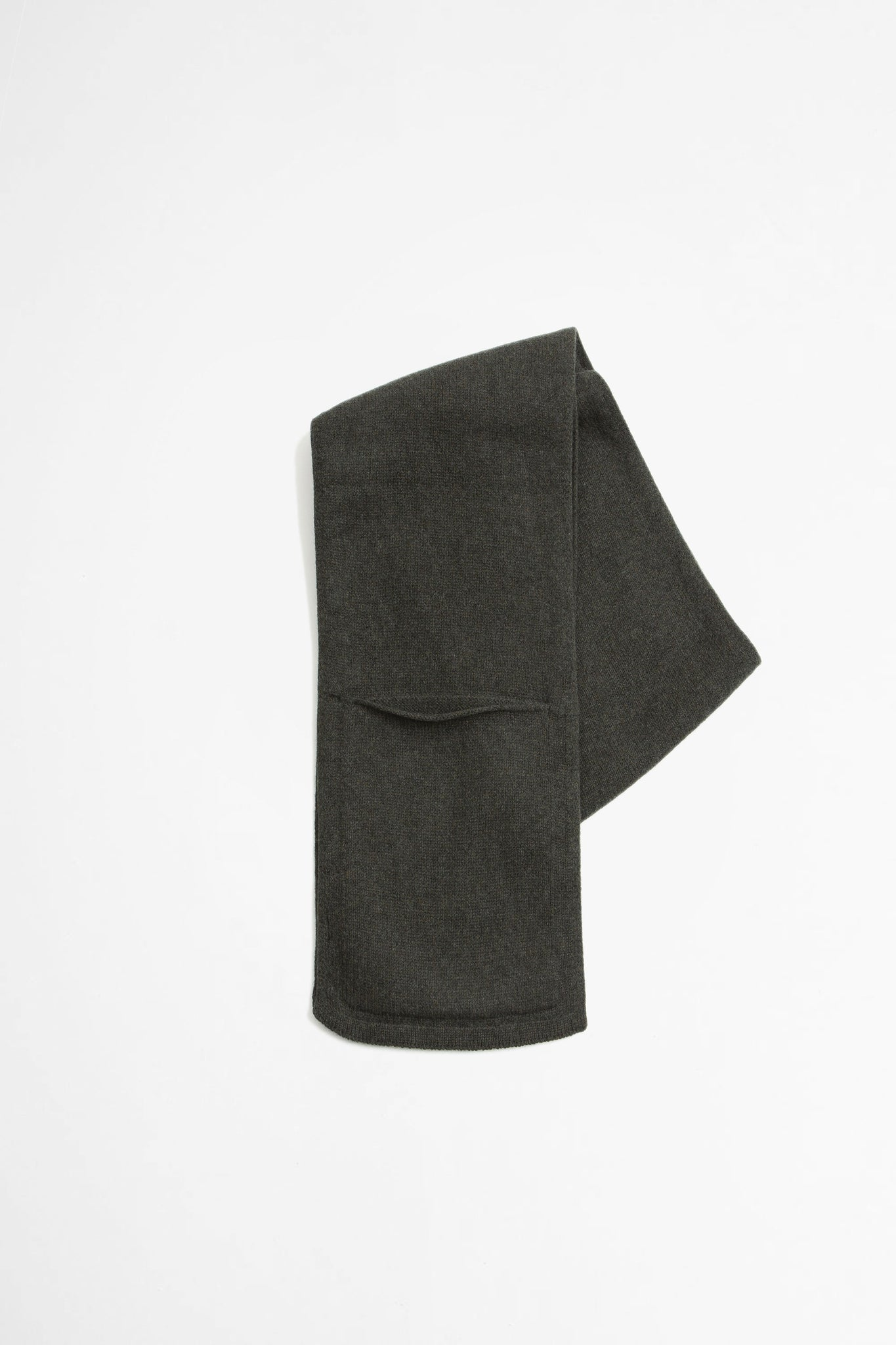 Pocket scarf lambswool khaki