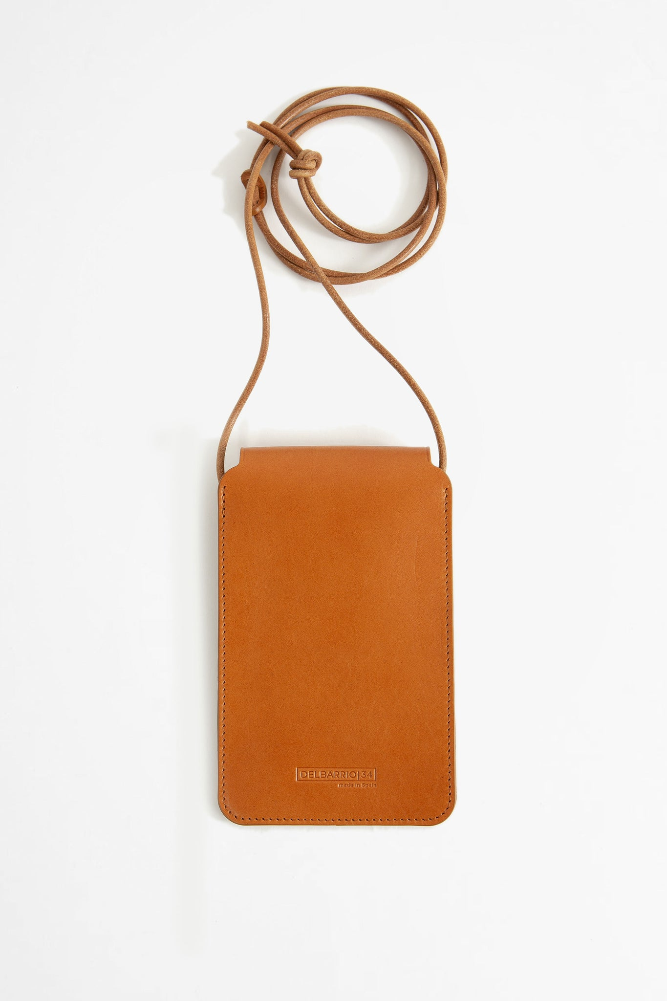Leather phone pouch brown