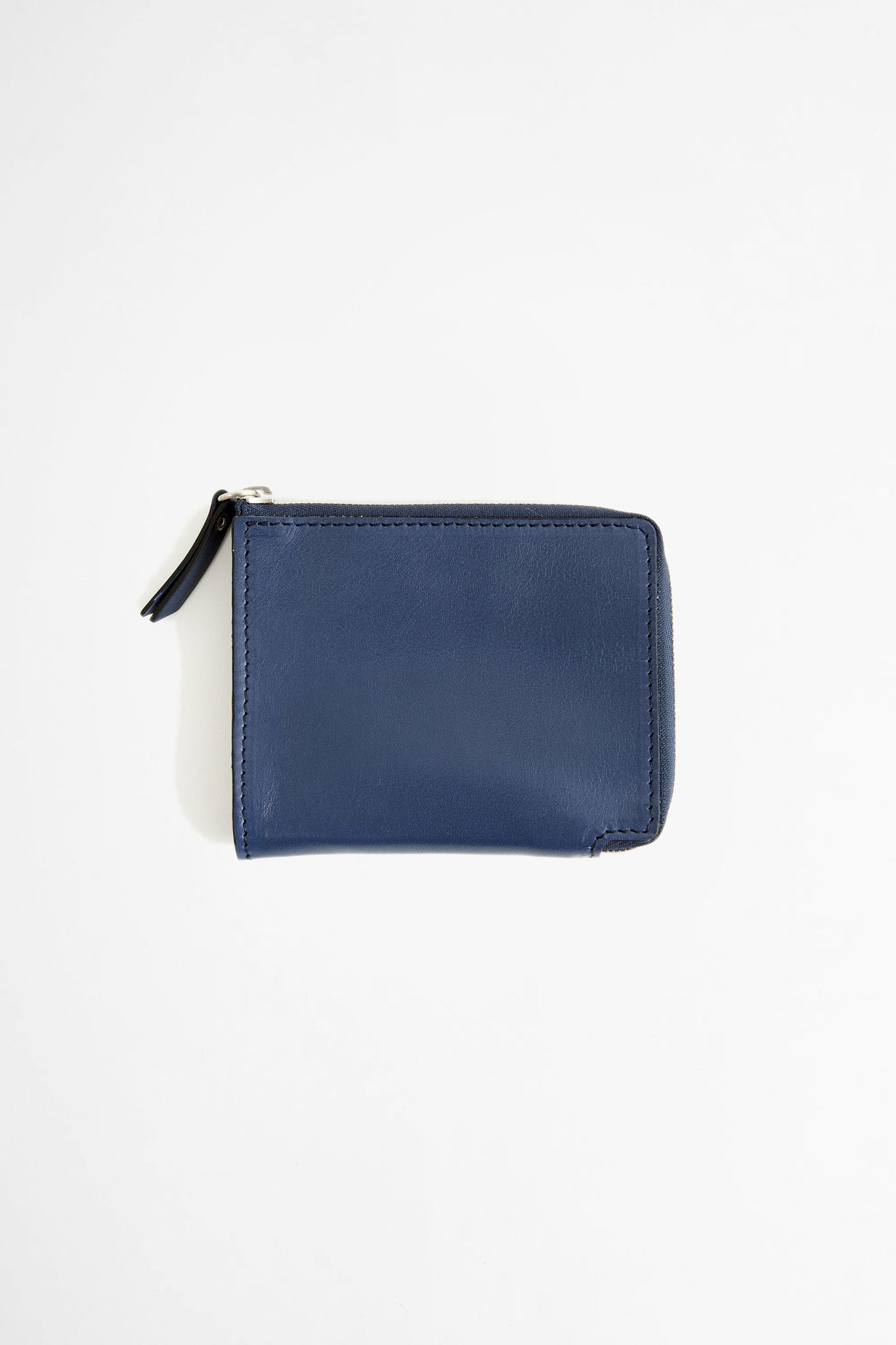Zip-around leather wallet blue