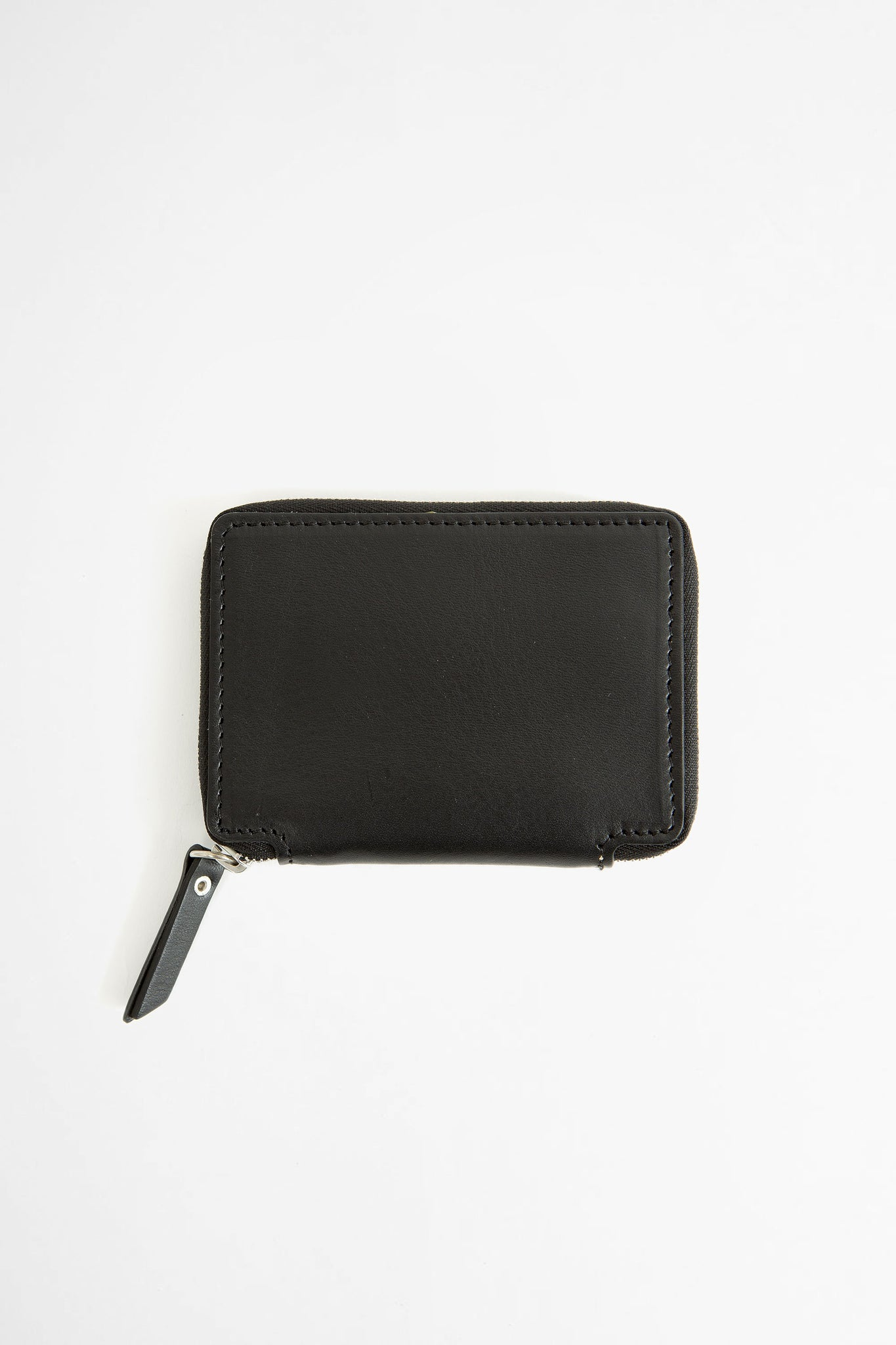 Compact zip wallet w/ coin purse black