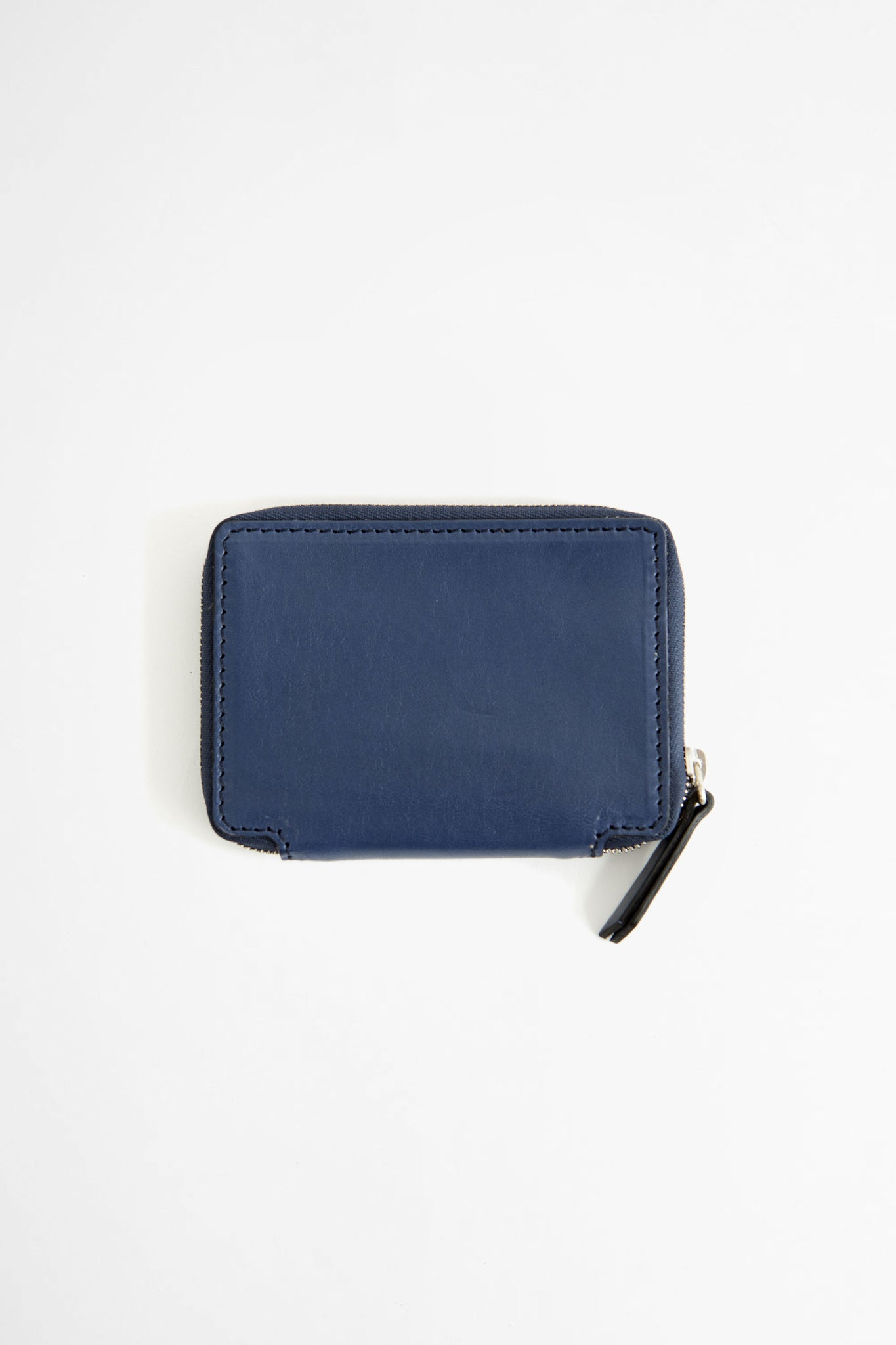 Compact zip wallet w/ cardholder blue