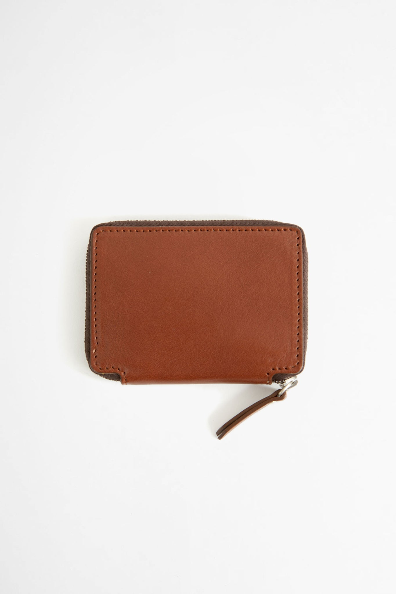 Compact zip wallet w/ coin purse brown