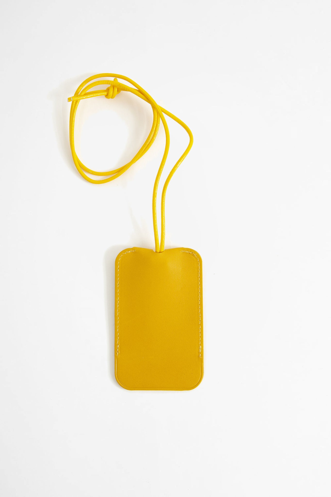 Leather key holder mustard
