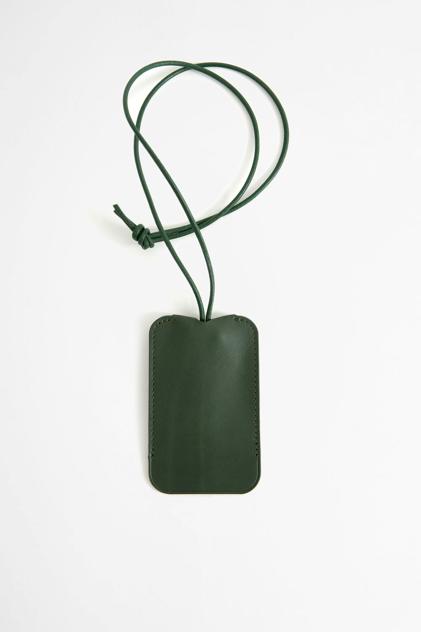 Leather key holder green