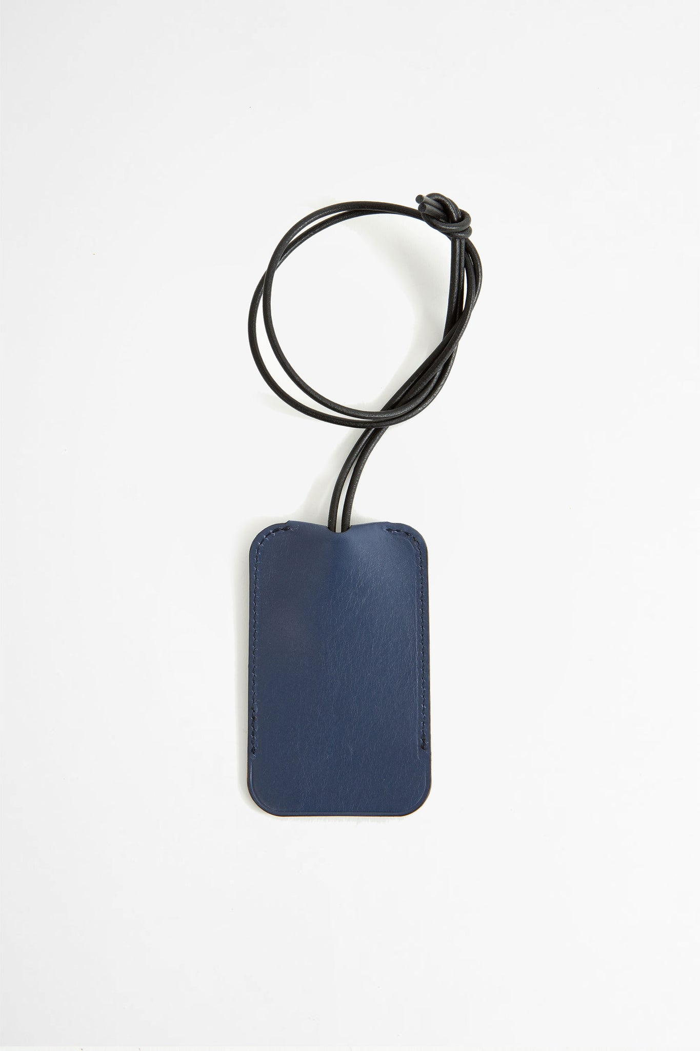 Leather key holder blue